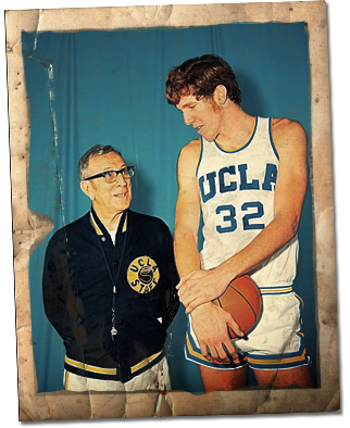 Bill Walton with Coach Wooden