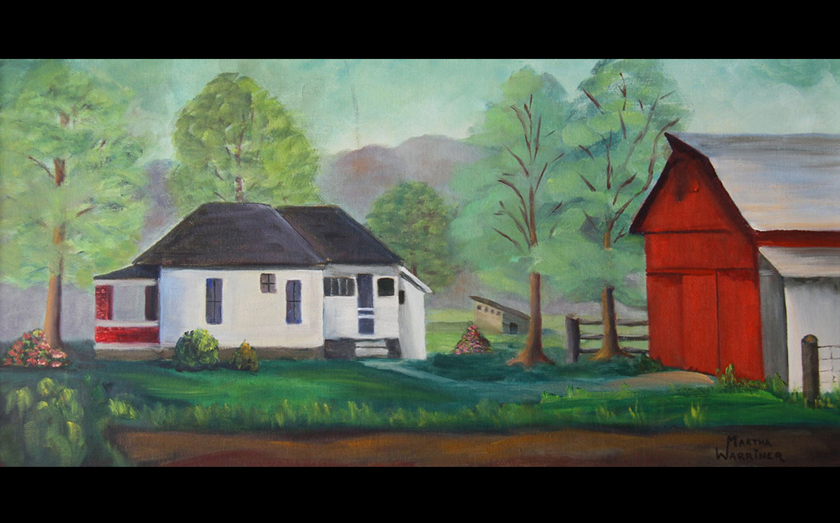 Painting of the Wooden farmstead