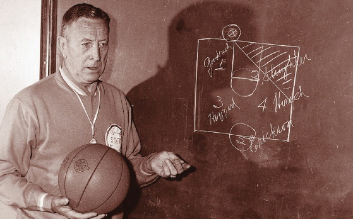 1964 chalkboard play UCLA